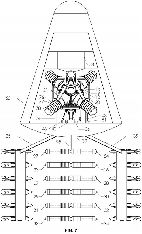 FIG. 7 - Fusion-powered Spacecraft